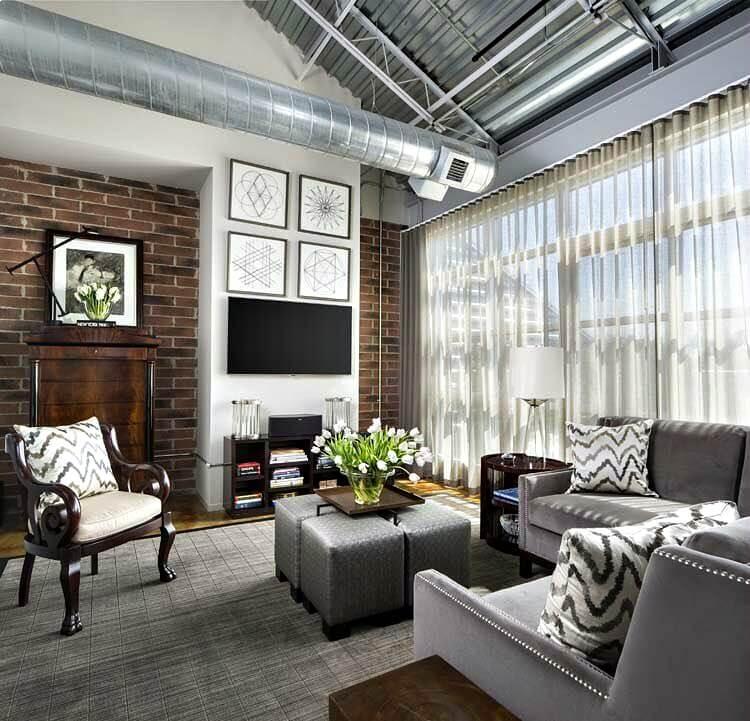 Royal Oak Loft window treatments