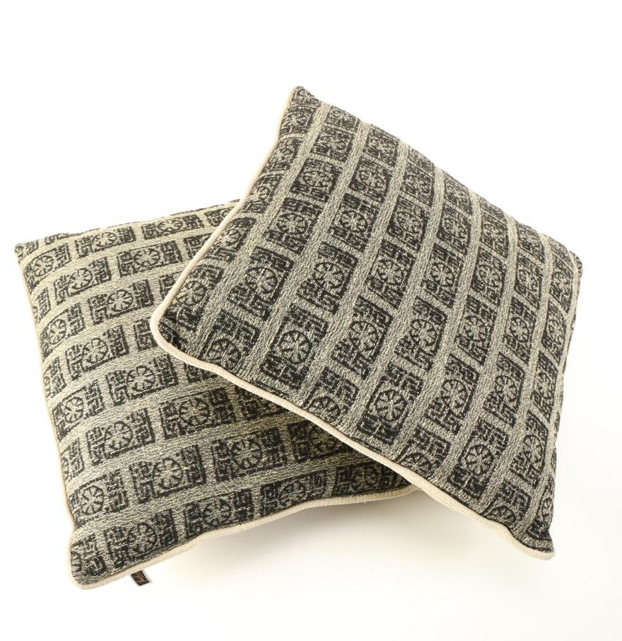 cream and black cushions
