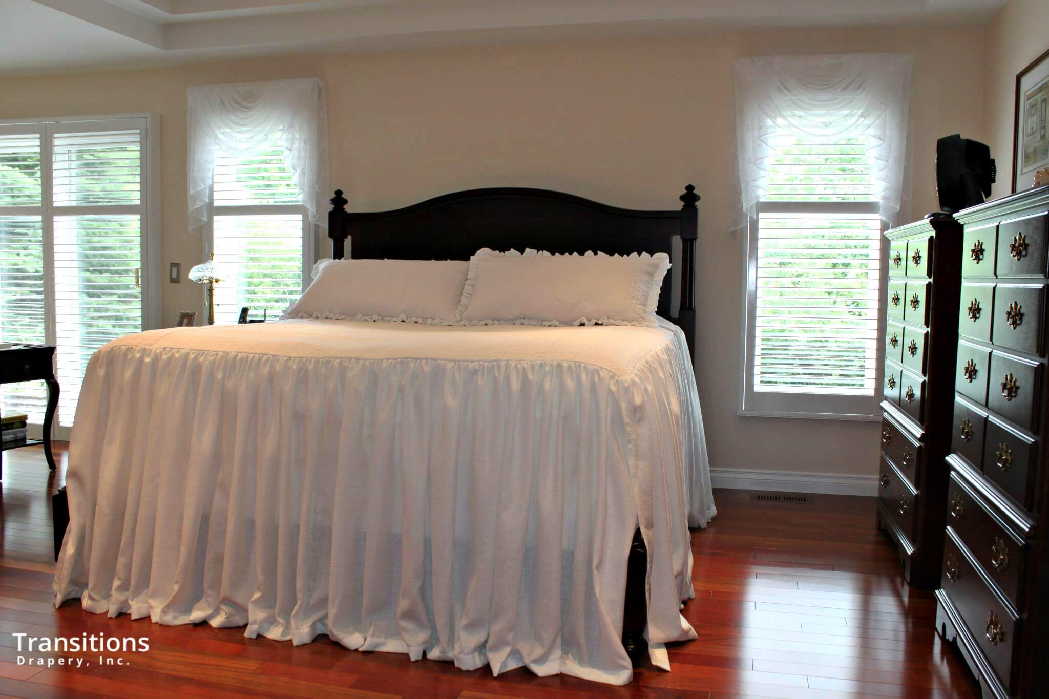 Bedding and soft valances