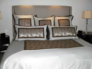Bedding pillows and bedspread