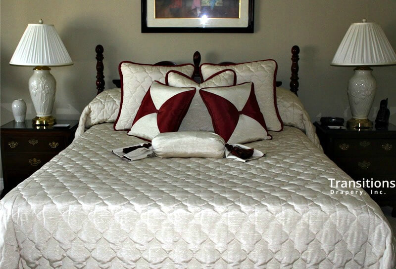 Bedding quilted pillows