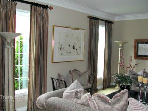 Drapes traditional family room