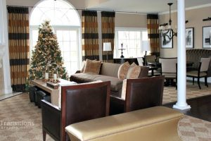 Drapes transitional family room