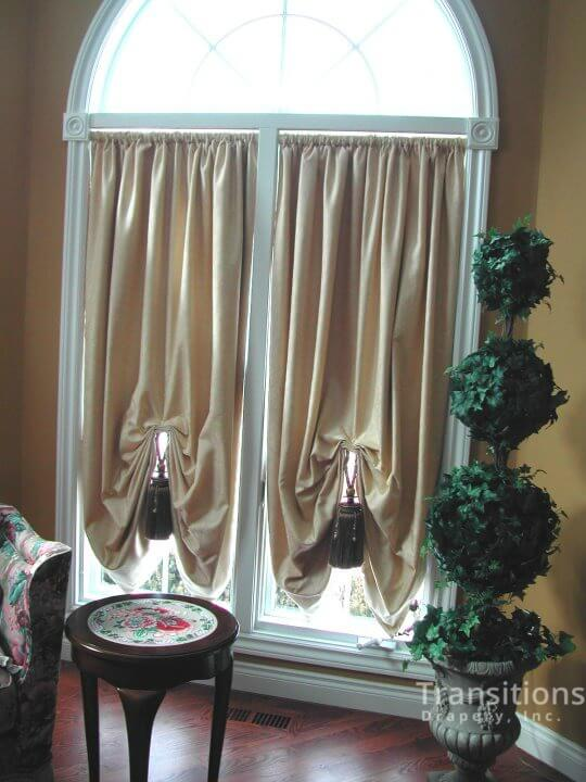 Drapes with large tassels side