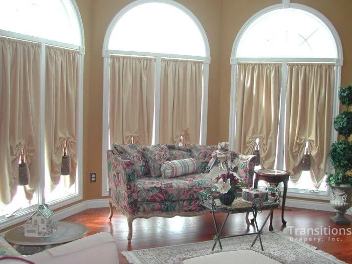 Drapes with large tassels