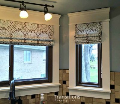 Roman Shades Kitchen