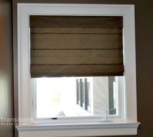 Roman shades for traditional bedroom