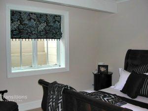 Roman shades traditional-bedroom