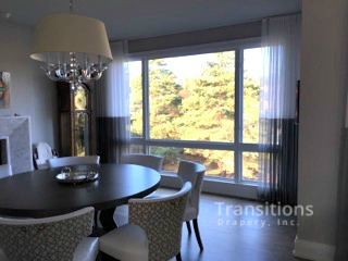 Sheers with Contrast Bottom Dining