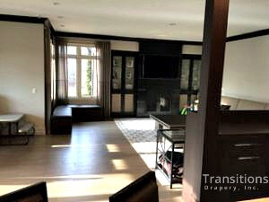 Side panels kitchen dining large windows