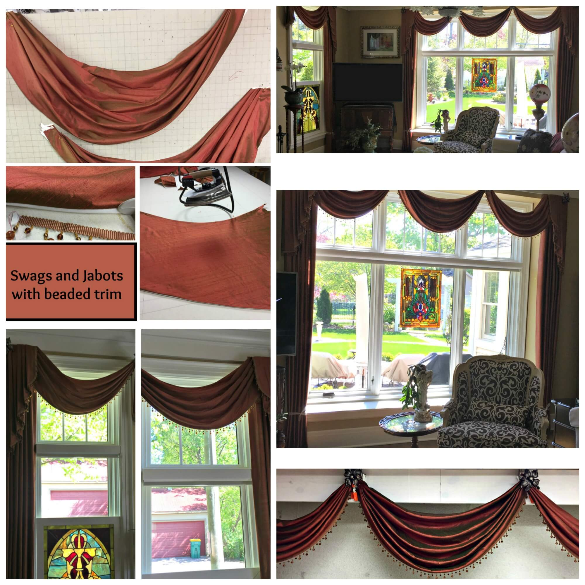 Swags with Beaded Valance