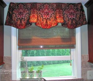 Valance over kitchen sink window
