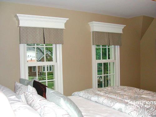 Valance transitional bedroom