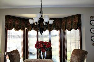 Valance transitional dining room