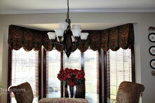 Valance transitional dining room