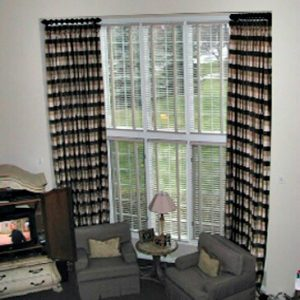 Drapes in great room large window