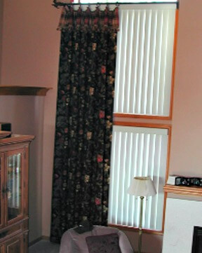 Drapes in great room