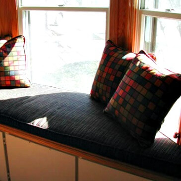 custom-upholstery-Bay window pillows and cushion
