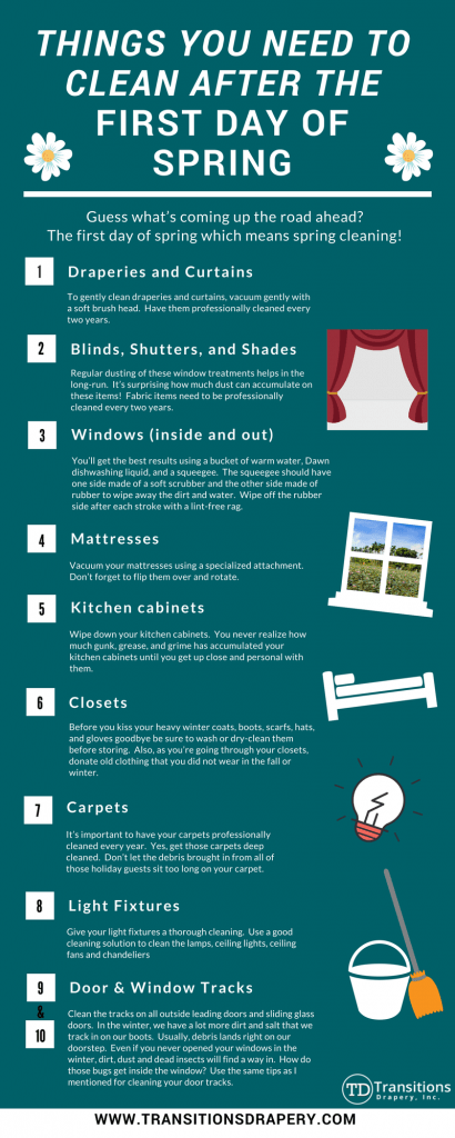 10 things to clean after the first day of spring