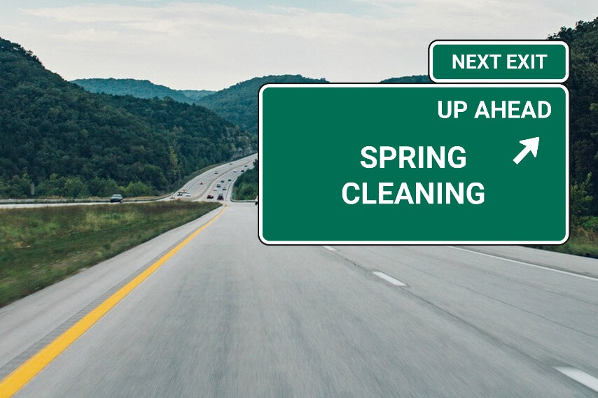 spring cleaning up ahead
