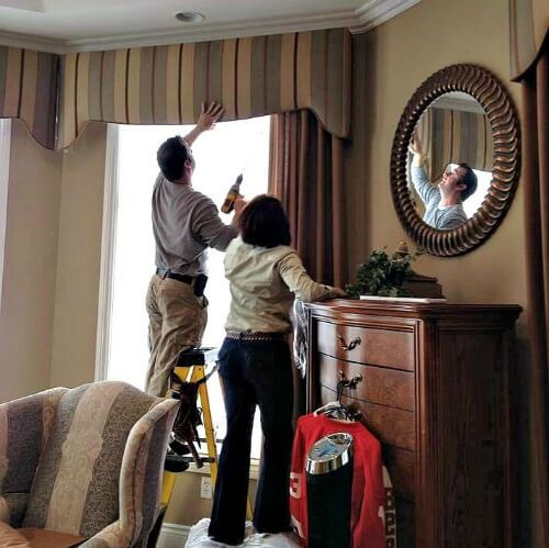 installation costs of curtains or drapes
