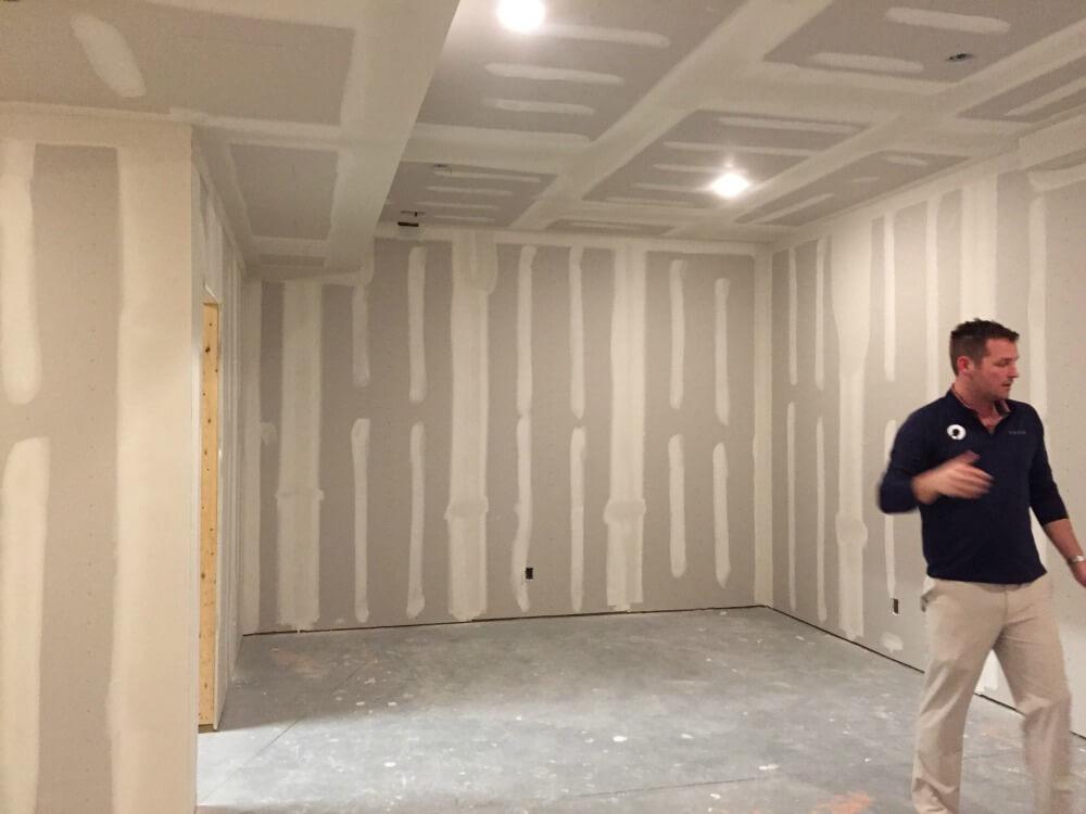 golf-simulator-room-under construction