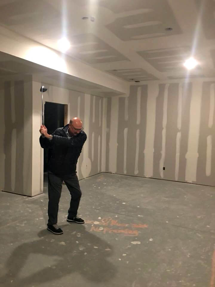 golf-simulator-room-construction