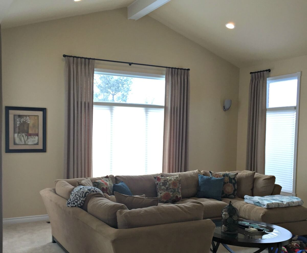 living-room custom made drapes and blinds