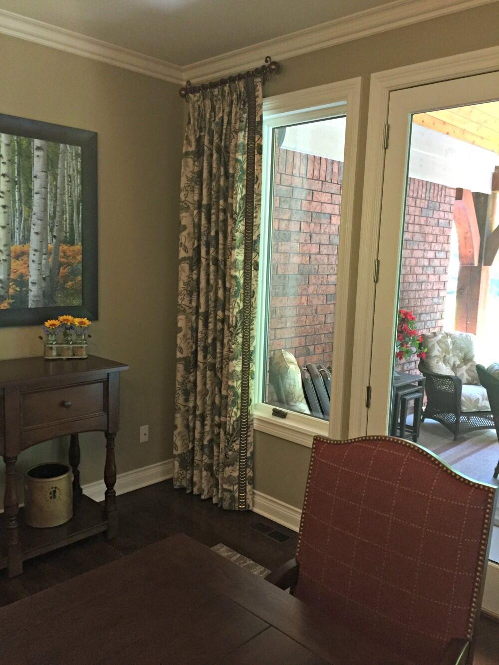 custom made side draperies for glass door-side-panels