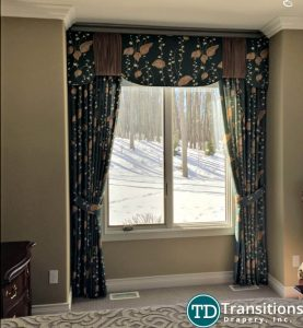 Valance with classic drapery