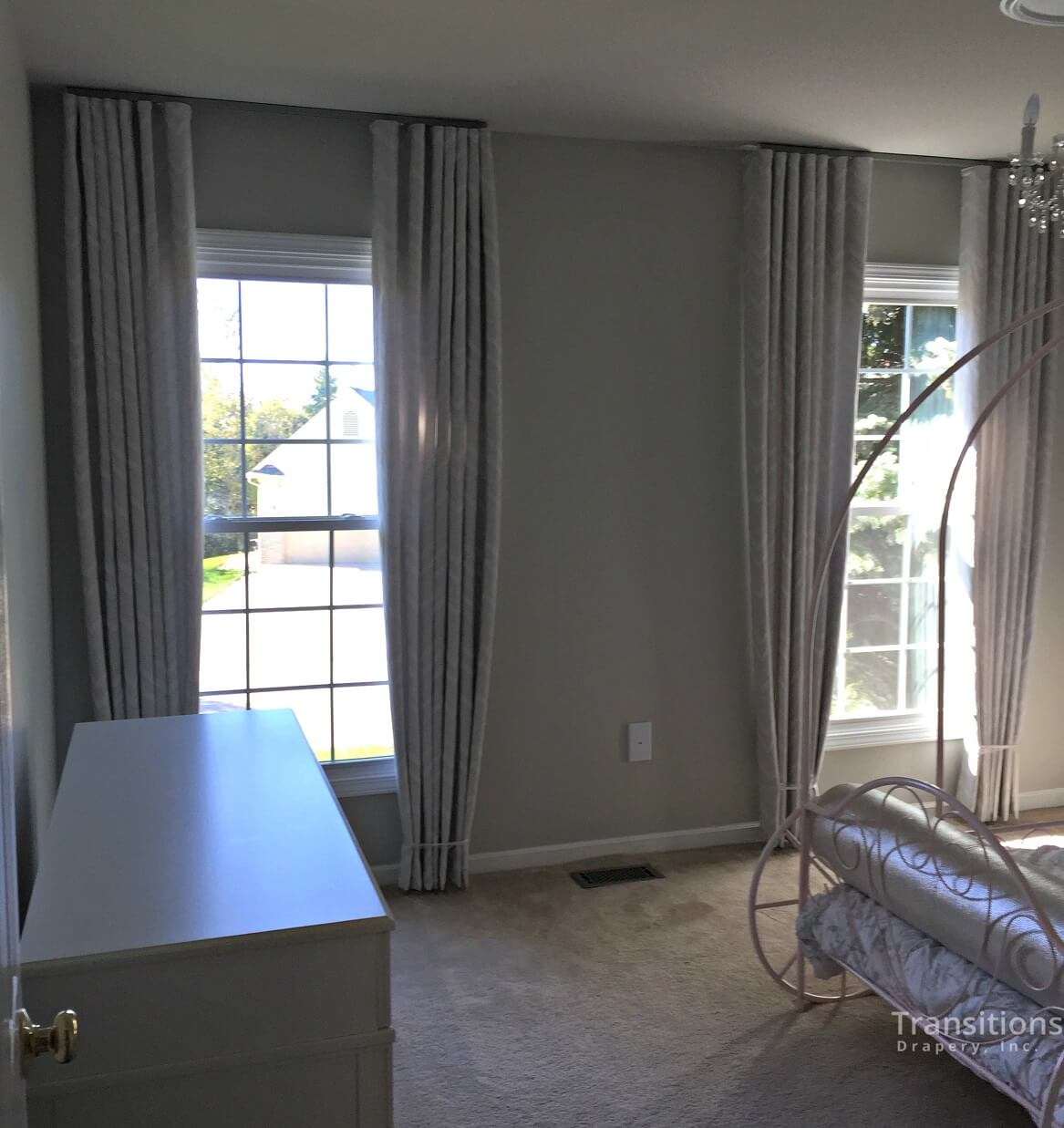 custom made ceiling to floor drapes for bedroom