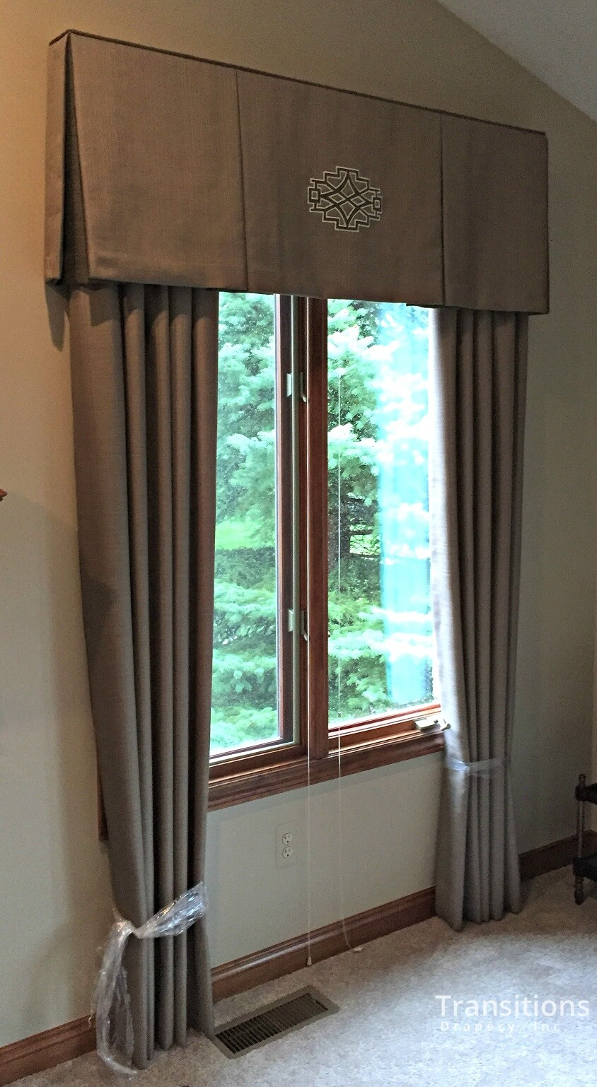 custom made drapes for great room with custom made valance