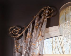 Sheer side panels with decorative rod
