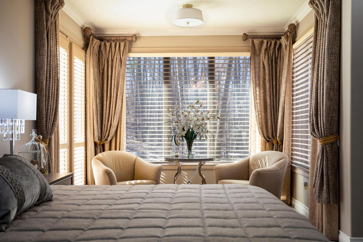 bedroom drapes side panels decorative rod
