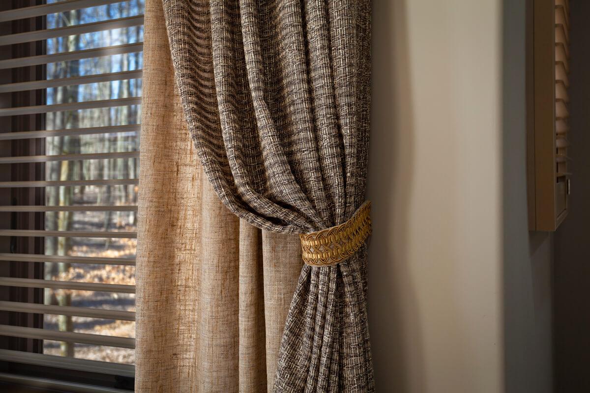 bedroom drapes side panels fabric tiebacks