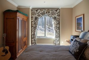 Custom drapery curtains valance bedroom