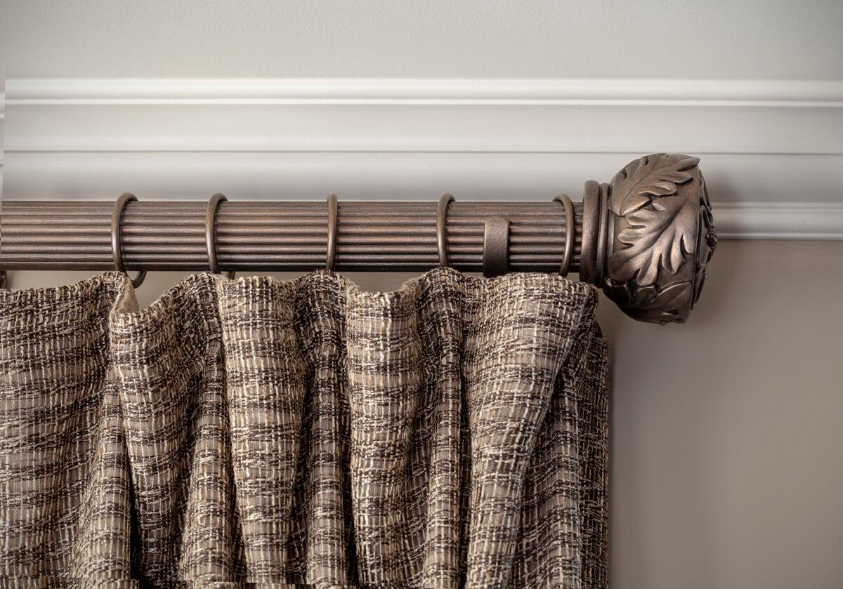 decorative rod hanging drapery panels