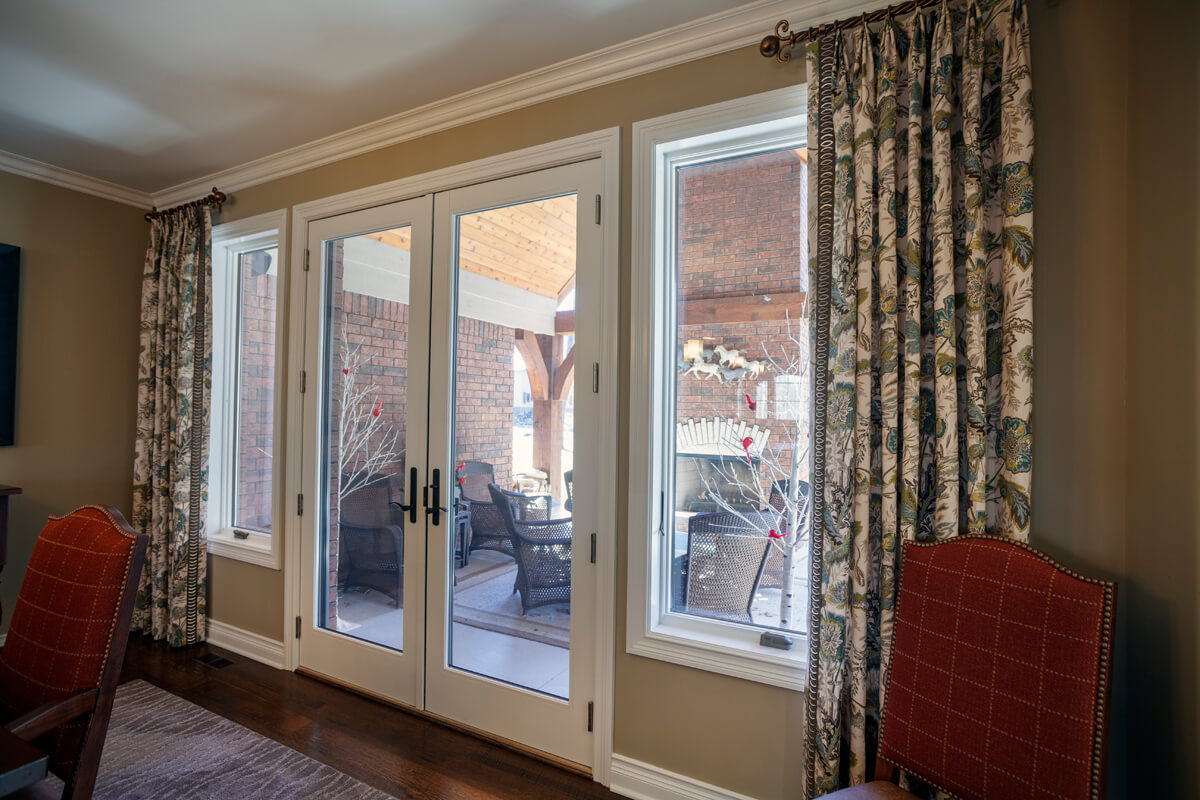 french door drapery curtains