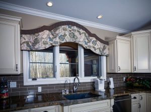 Kitchen sink window valance cornice