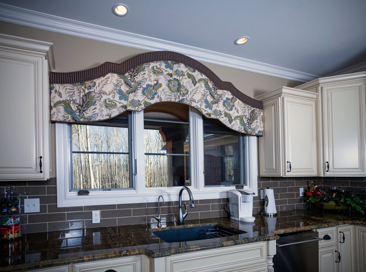 kitchen sink window valance cornice