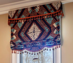 Roman shade valance for small window