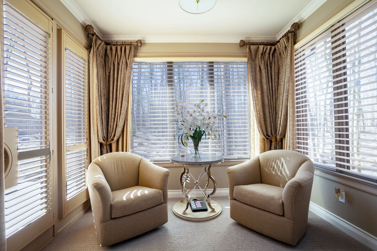 side panel window treatments with fabric tiebacks