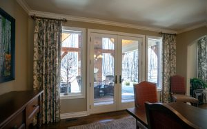 Sliding glass door french door drapes